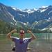 Caleb Wojck in Glacier National Park - Nerd Fitness T-Shirt