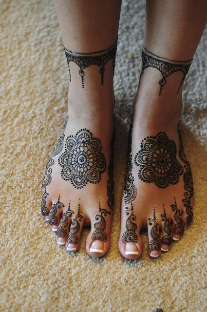 anklet+mandela henna feet!   Flickr - Photo Sharing!