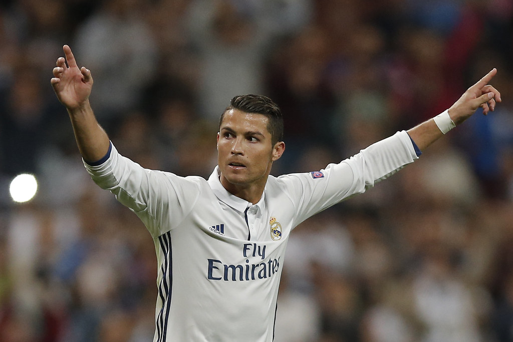 Cristiano Ronaldo踢進傷停補時第98分鐘的12碼。(達志影像資料照)