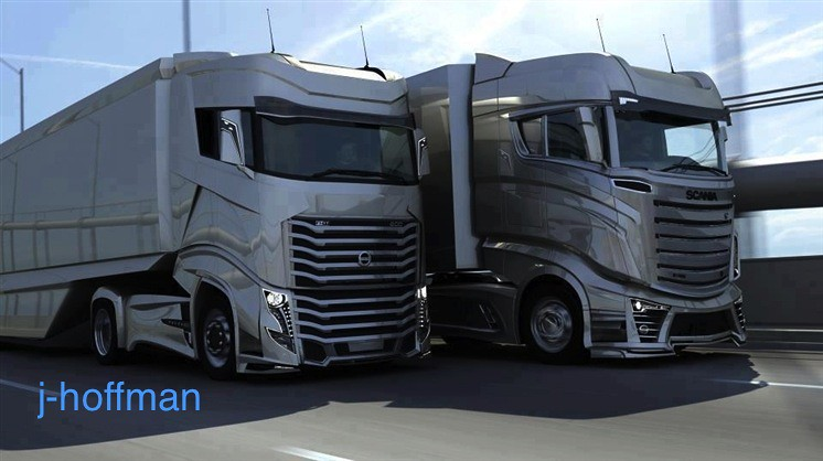 volvo fh and scania r1000