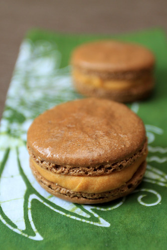 Chocolate Salted Caramel Macarons | by the boastful baker