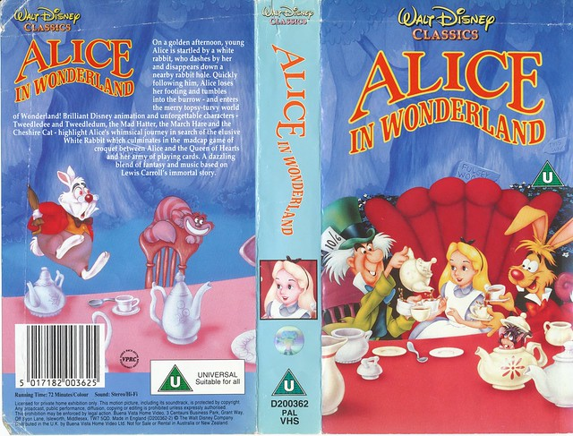 Alice in Wonderland UK VHS 1992 | Flickr - Photo Sharing!
