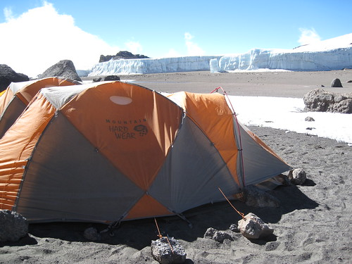 A view of glaciers from my tent in Crater Camp. This was my favorite campsite on the mountain, I've never seen anything like this before! | by Thomson Safaris