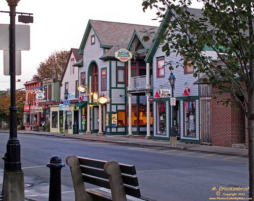 Main Street restaurants and shops, Bar Harbor Maine | by PhotosToArtByMike