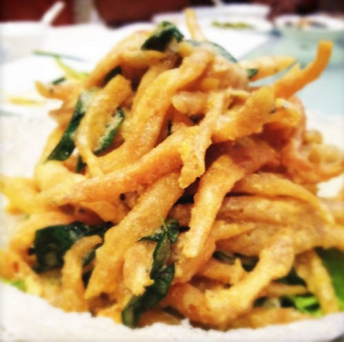 salted egg yolk whitebait | by boo_licious