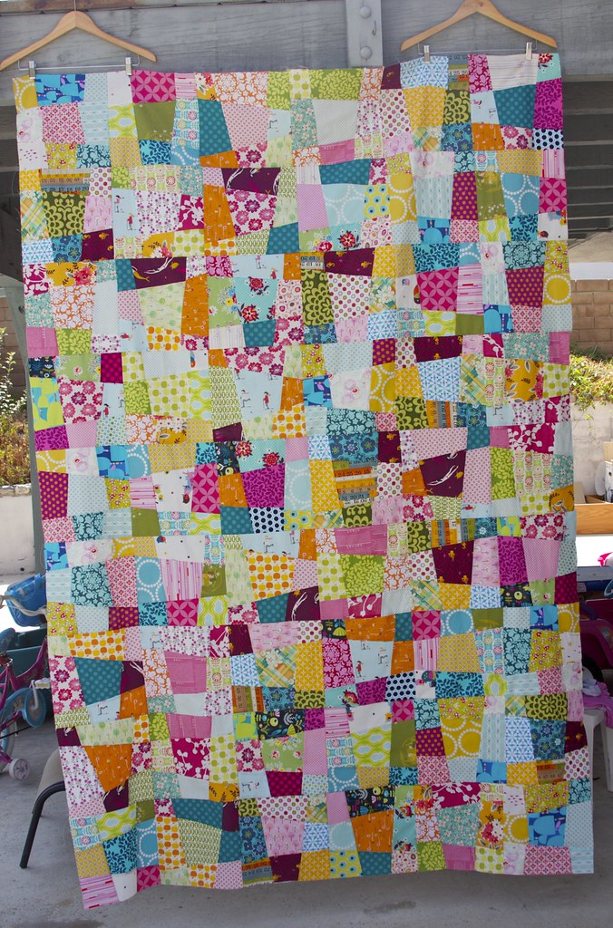 Crazy Nine Patch Quilt Blogged Inspired By This Quilt