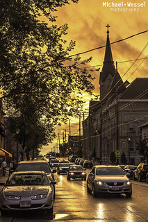 Brady St. -after the rain- | by mwesselphotography