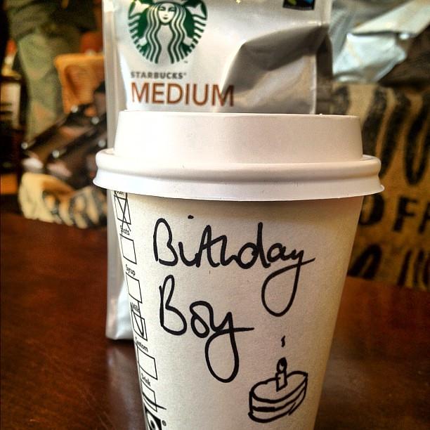 Free Birthday Starbucks ~ Happy birthday starbucks cup boy andrewwork flickr
