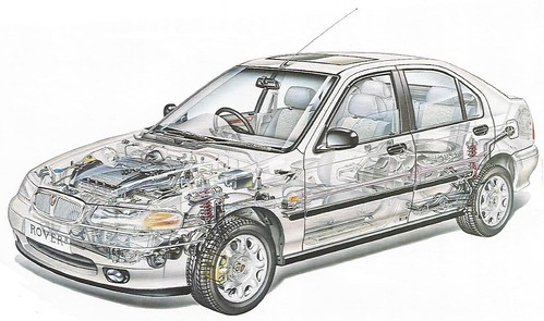 ROVER 400 CUTAWAY | by Midlands Vehicle Photographer.