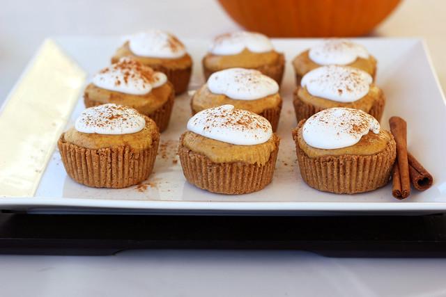 Grain-free Mini Pumpkin Pie Tarts (Gluten-free, Vegan + Refined Sugar-free)