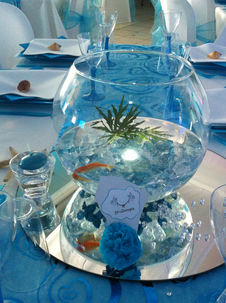 Decoration mariage poisson rouge mariage decoratrice for Deco aquarium poisson rouge