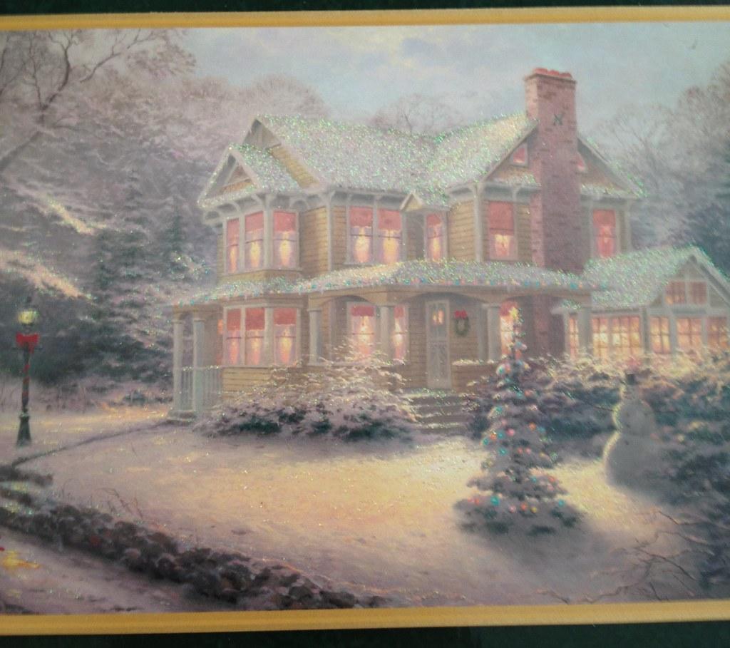 Thomas Kinkade Christmas | 12 | Mailbox Happiness-Angee at ...