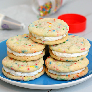 Funfetti Sandwich Cookies | by Tracey's Culinary Adventures