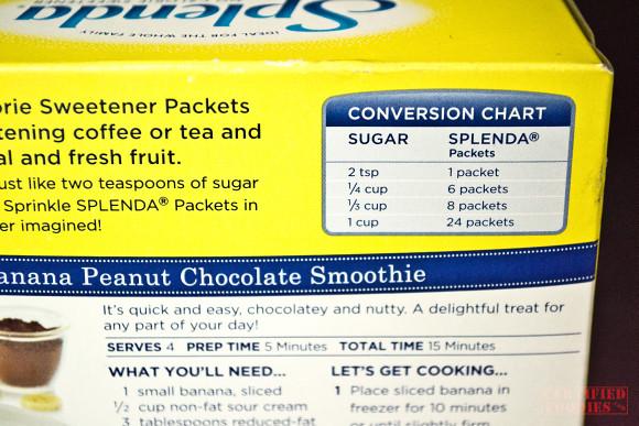 Conversion Chart At The Back Of Box Of Splenda No Calorie Flickr