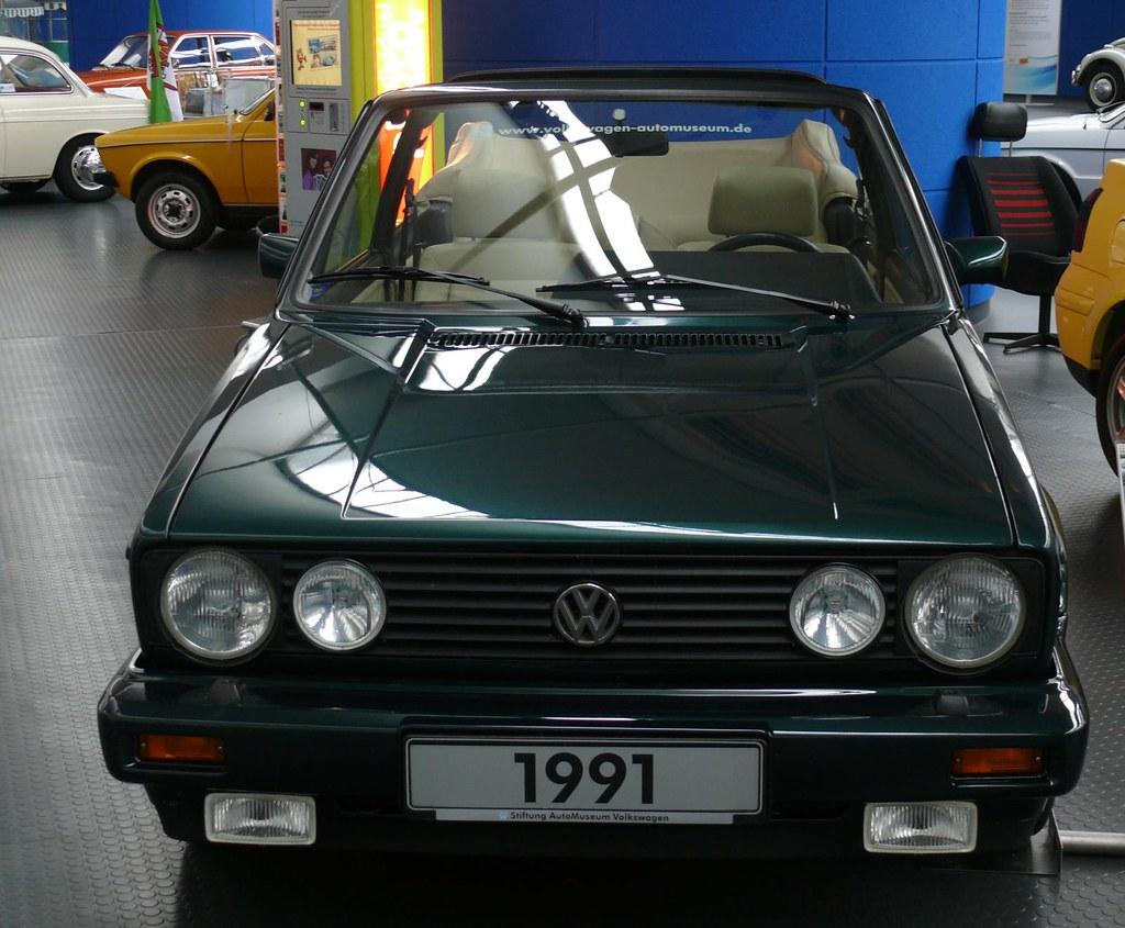 vw volkswagen golf cabriolet classic line 1991 green v. Black Bedroom Furniture Sets. Home Design Ideas