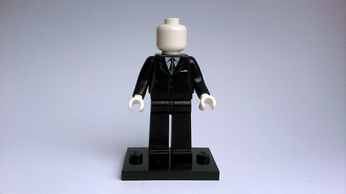 Slender Man Custom Minifig My First Attempt At