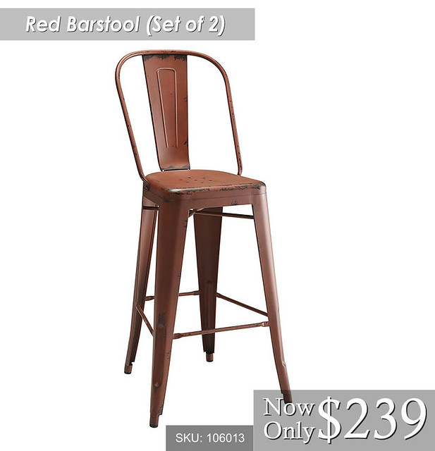 Red Barstool Set of 2