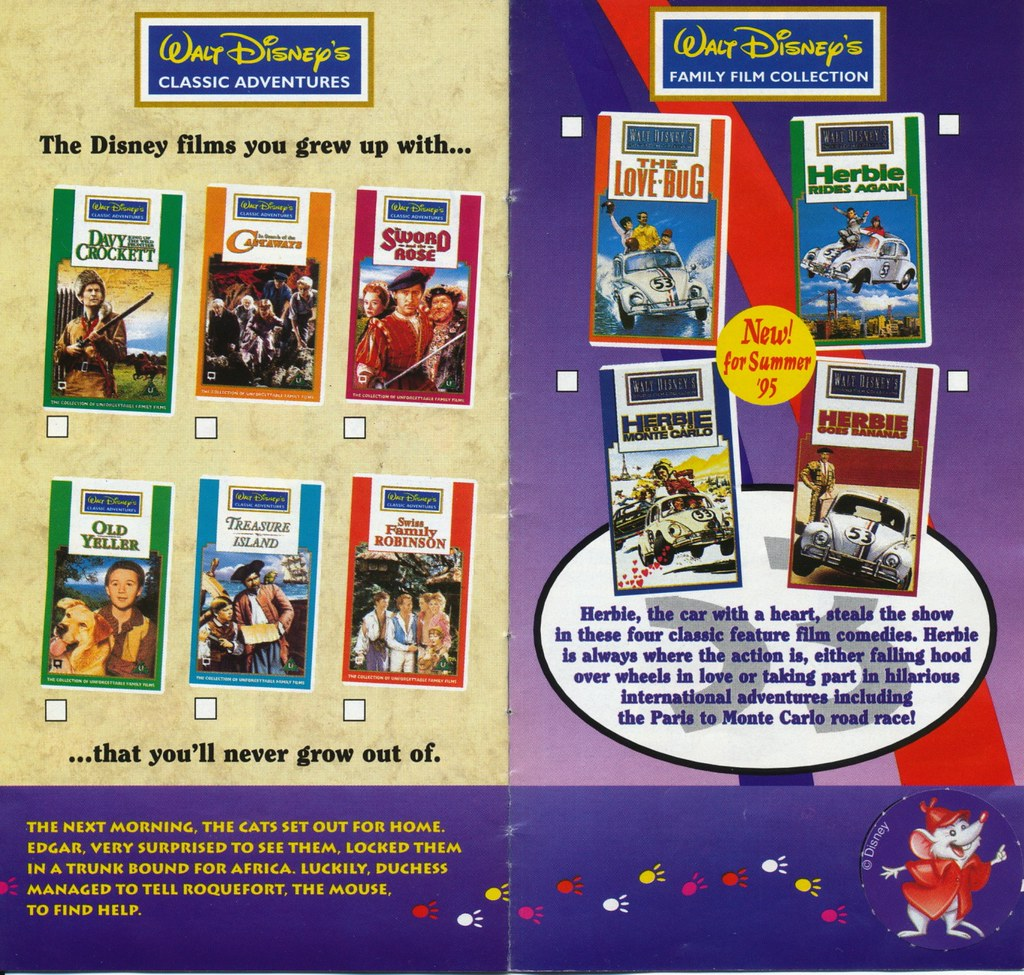 disney vhs catalogue 1995 page 09 uk disney videos
