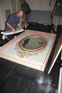 Packing up the mirror on the Royal Staircase.  ©ROH Collection 2012 | by Royal Opera House Covent Garden