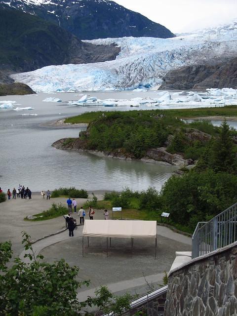 Mendenhall Glacier Located Just North Of Juneau Alaska
