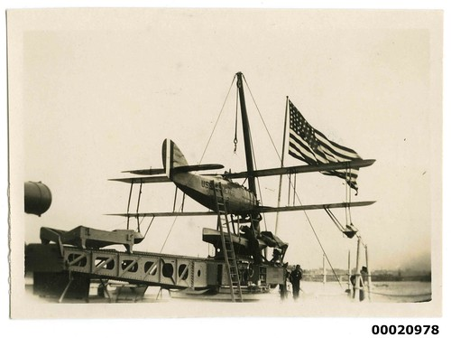 USS NEW MEXICO seaplane, July 1925 | by Australian National Maritime Museum on The Commons