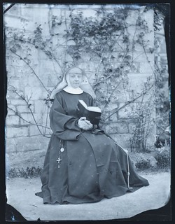 Early image of a nun - wet plate collodion #2 | by whatsthatpicture