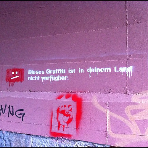 Dieses Graffiti ist in deinem Land nicht verfügbar. - This graffiti is not available in your country. #graffiti #lindenau #streetart #stencil #leipzig