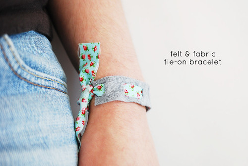 Felt & Fabric Tie-On Bracelet | by wildolive