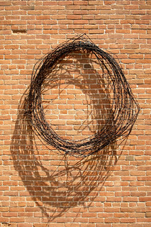 barbed wire & brick | by crested butte guy