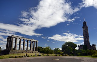 The National Monument and Nelson's monument , Carlton Hill, Edinburgh | by Dragos Cosmin- Getty Images Artist