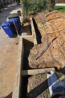 Retaining wall timbers laid deadman north | by whiteknuckled