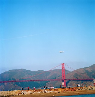 Space Shuttle Endeavour over the Golden Gate Bridge | by Mark.2000