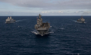 Western Pacific deployment:  transit in formation en route to its area of operation | by #PACOM