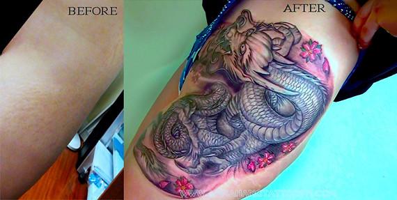 tattoo design dragon cover up www flickr. Black Bedroom Furniture Sets. Home Design Ideas
