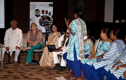 UN Women Executive Director Michelle Bachelet attends a presentation by solar engineers from India's Barefoot College | by UN Women Gallery