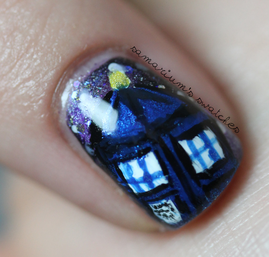 Doctor Who Tardis Nailart Doctor Who Nail Art Sarah Flickr