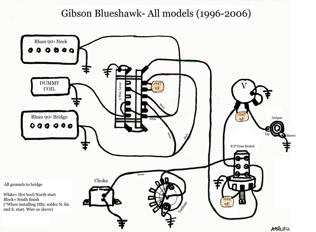 Gibson Blueshawk Diagram Schematic Bw Gibson Blueshawk