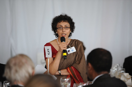 Irene Khan, Director-General of the International Development Law Organization, moderates the  High-level Lunch Event on Strengthening Women's Access to Justice | by UN Women Gallery
