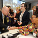 "UK Foreign Secretary William Hague welcomes Nobel Peace Laureate Leymah Gbowee at the high-level event ""Preventing Sexual Violence and Gender-based Crimes in Conflict and Securing Justice for Survivors"""