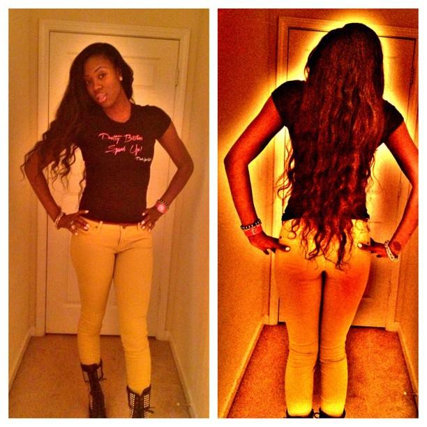 Hair long... Ass quake...