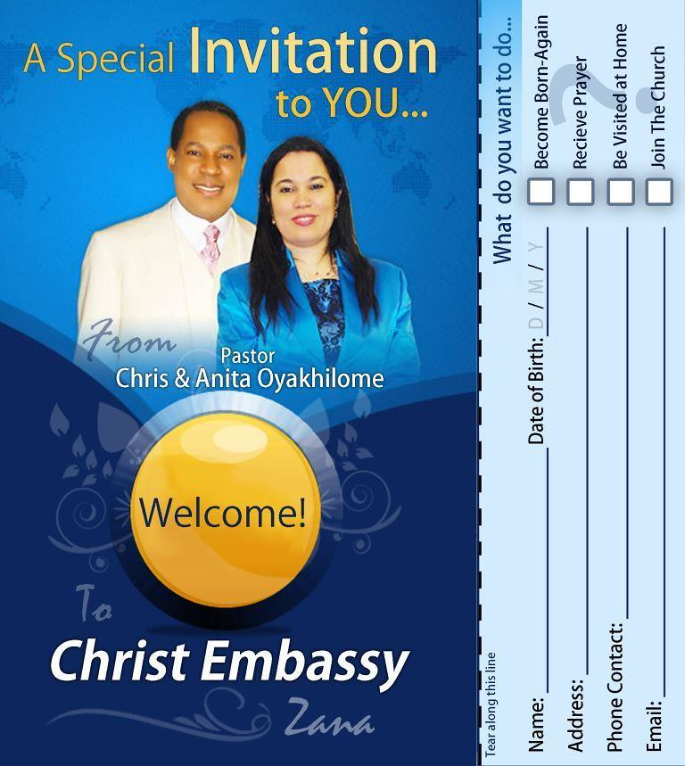 Christ Embassy Church Zana Invitation Front Doxa Light Flickr