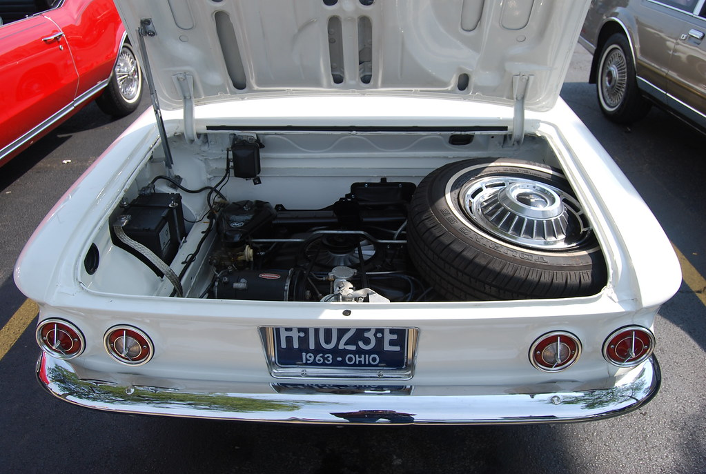 1963 chevy corvair engine bay | the six-cylinder boxer engin… | flickr