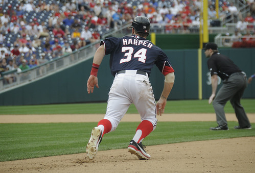 Harper running the bases | by Scott Ableman