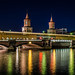 Oberbaumbrücke bei Nacht - Mit U-Bahn U1