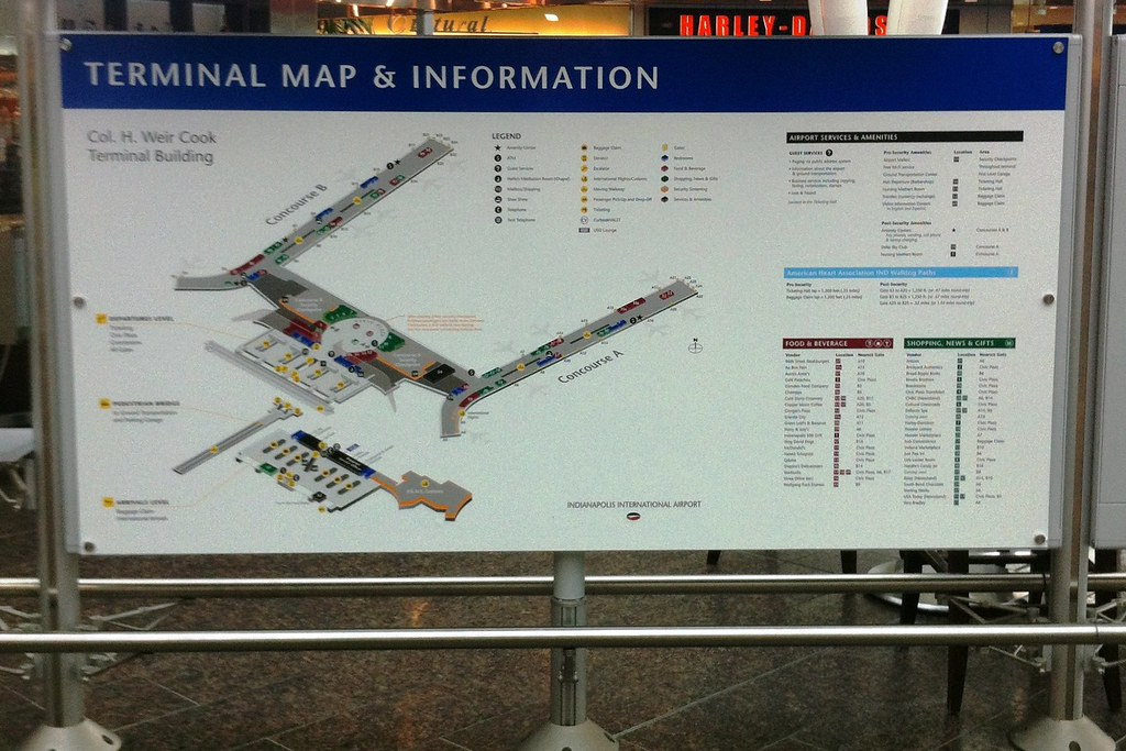 Indianapolis International Airport IIA Terminal Map Prin