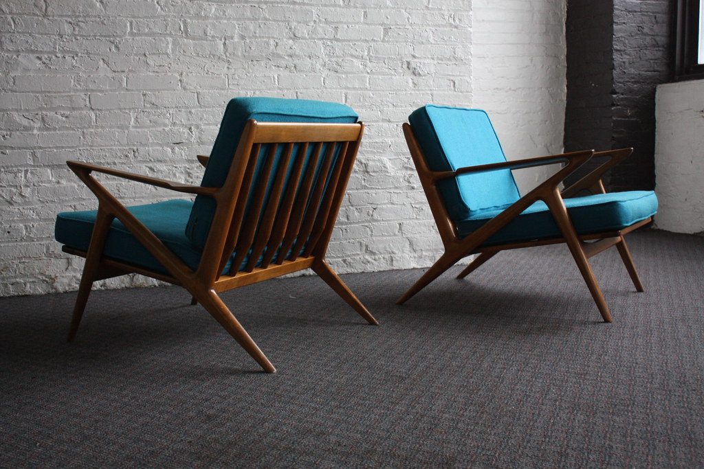 ... Brilliant Danish Mid Century Modern Poul Jensen Z Chairs For Selig  (Denmark, 1950u0027s)