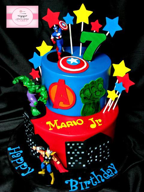 Mario Avengers Cake Happy Birthday Mario Top tier Chocola Flickr