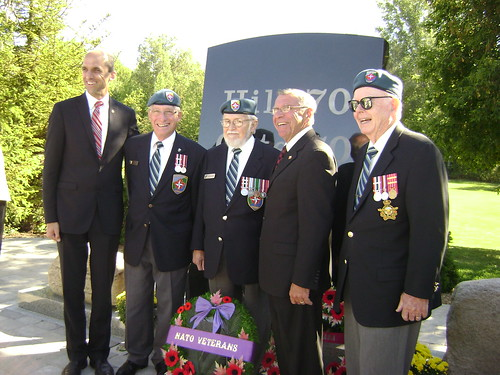 Hill 70 memorial with Minister, MP & NVOC members | by natoveterans