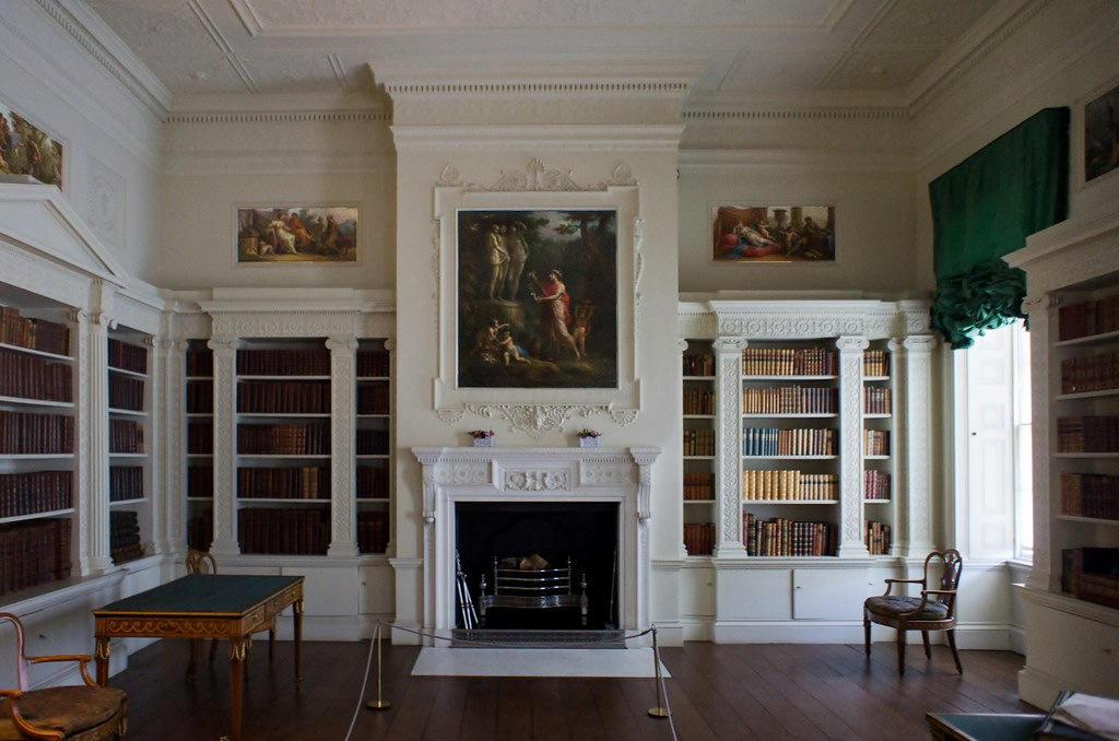 hidden closet door ideas - The Library in Osterley House Maxwell Hamilton