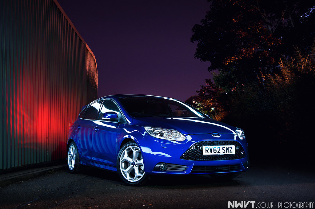 2013 ford focus st 5 door hatchback in blue light painted by nwvtco